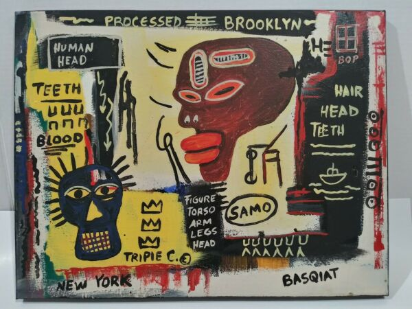 Painting made and sold in the style and manner of JEAN MICHEL BASQUIAT