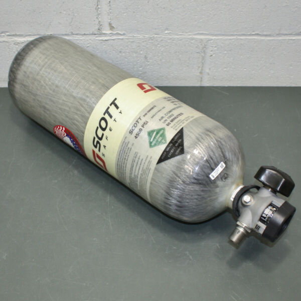 Scott SCBA Air Cylinder 200130 01 60 Minute 4500 PSI Carbon Wrap Tank MFR 2015 $699.95