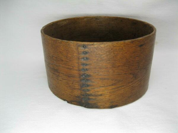 Large 11 Inch Wooden Grain Dry Measure Round Pantry Box Vtg Old Wilton Nh