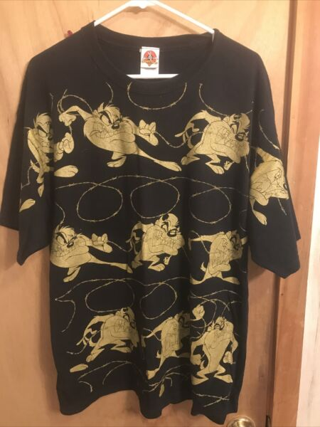 vintage looney tunes shirt All Over Print Taz Bugs Bunny Warner Brothers $30.00