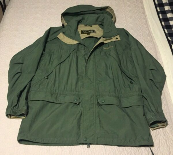 Timberland Original Weather Windbreaker Full Zip Hooded Rain Jacket Coat 1998 $29.95