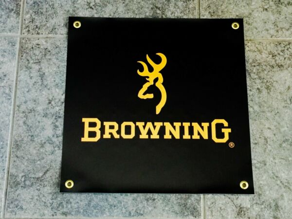 Browning banner sign garage wall 2A 2nd Amendment rifle shotgun hunting buck doe $16.95