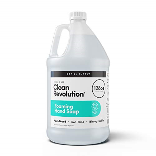 Clean Revolution Foaming Hand Soap Refill Supply Container. Ready to Use Spring