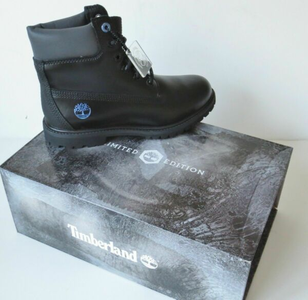 Timberland WOMEN#x27;S LIMITED EDITION 6quot; Inch Premium BLACK ICE Leather Boots A1Q84 $79.99