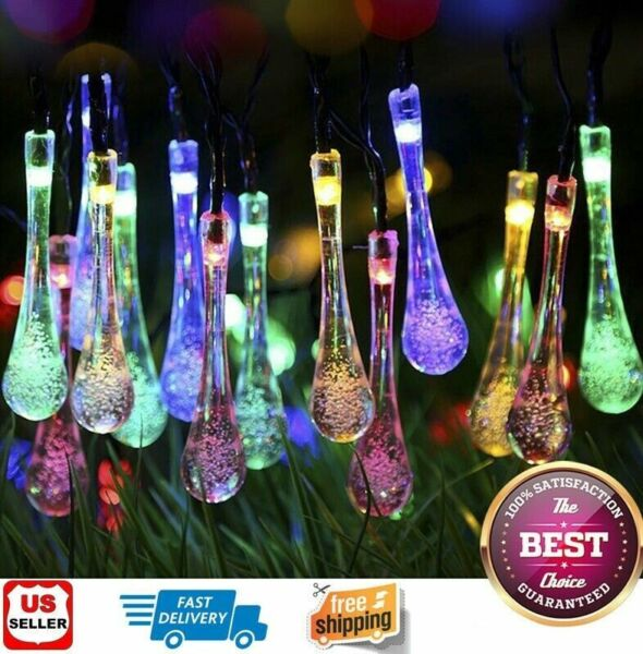 Outdoor Solar Powered 30 LED String Light Garden Patio Yard Landscape Lamp Party $11.99