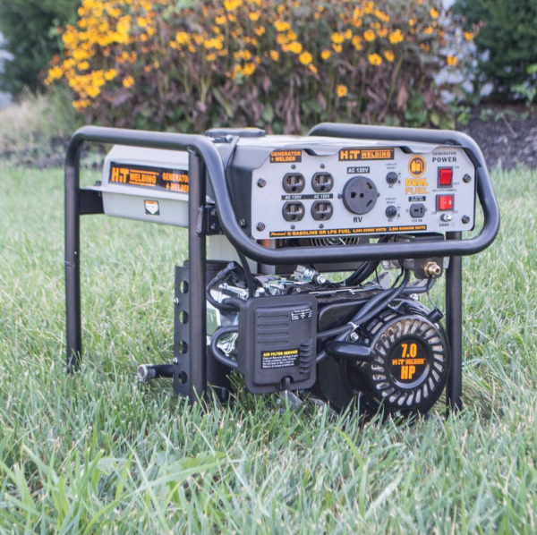4000 3500 Watt Dual Fuel Portable Generator Stick Welder TIG Ready HIT Welding
