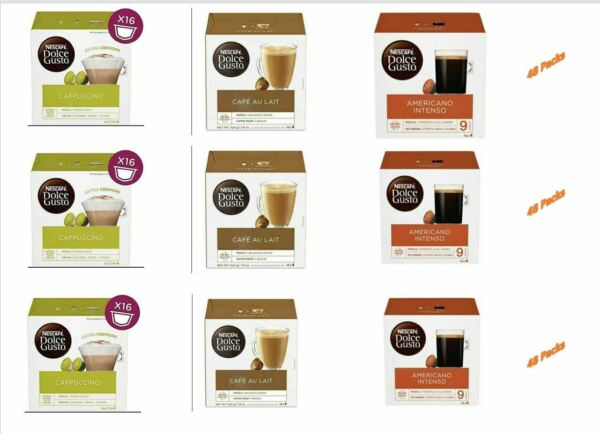 Nescafe Dolce Gusto 3 Flavour Variety Pack 1 Pack of 9 144 Capsules EXP:11 20