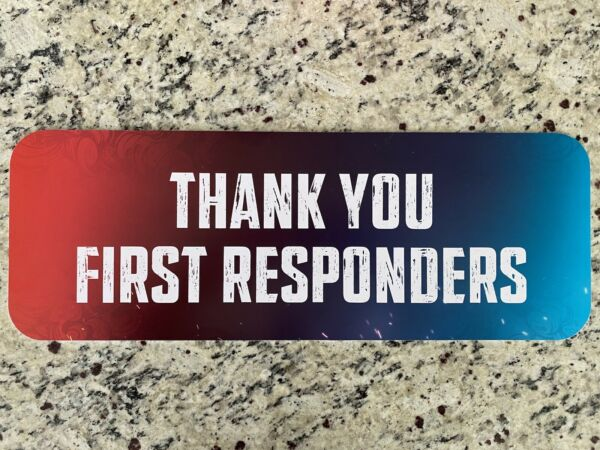 Super Bowl LV 55 Kansas City Chief Tampa Bay Buccaneer First Responders Sign