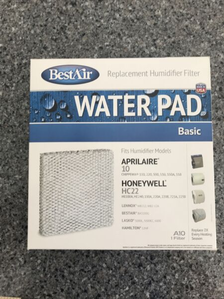 BestAir A10 Best Air Furnace Humidifier Evaporator Replacement Water Pad Filter $13.90