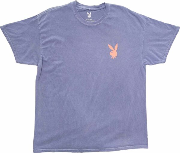 Men#x27;s Playboy Bunny Logo Purple Pink Vintage Magazine Retro T Shirt Tee New