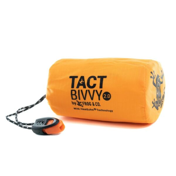 Tact Bivvy 2.0 Emergency Sleeping Bag w HeatEcho Technology Paratinder amp; Whis