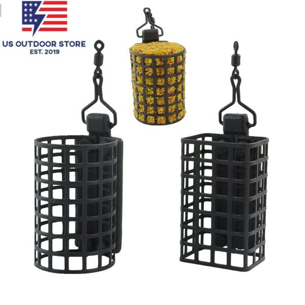 10x Fishing Tackle Feeder Cage for Carp Coarse Match Metal Feeders Bait Cage $43.99