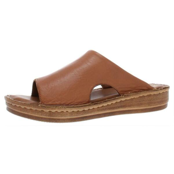 Bella Vita Womens Mae Italy Leather Open Toe Slide Sandals Shoes BHFO 1948