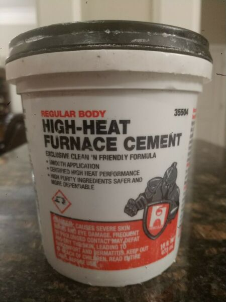 HERCULES HIGH HEAT FURNACE CEMENT 35504 16 oz Container $14.99