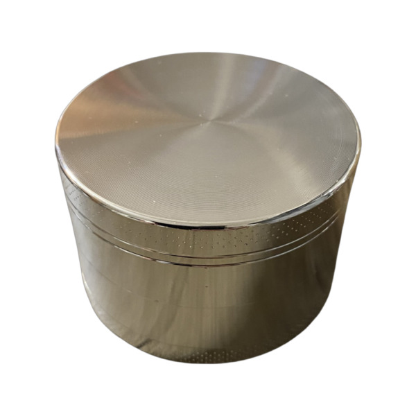 2.5quot; Large Silver Grinder Herb Spice 4 Piece Crusher Metal Kitchen Spices ONLY
