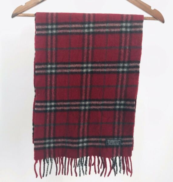 Authentic Burberry Scarf Cashmere Red Plaid $69.00