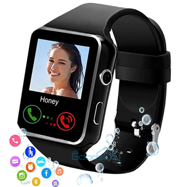 2021 Touch Smart Watch Women Men Heart Rate For iPhone Android IOS Waterproof $22.79