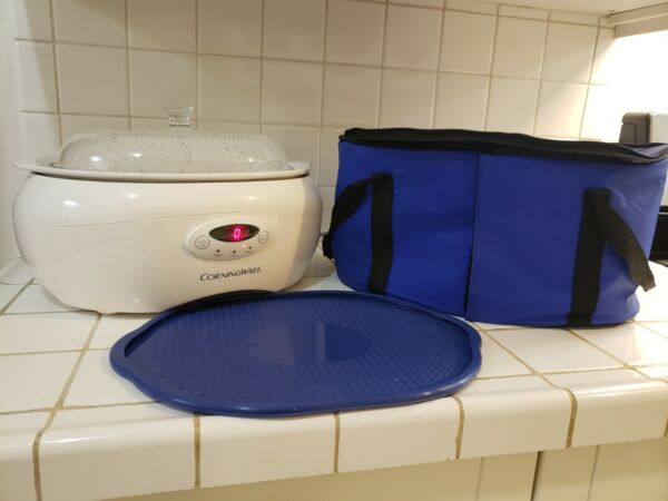 CorningWare 6 Quart Programmable Crock Slow Cooker SC 60 Electric w bag NO BOX