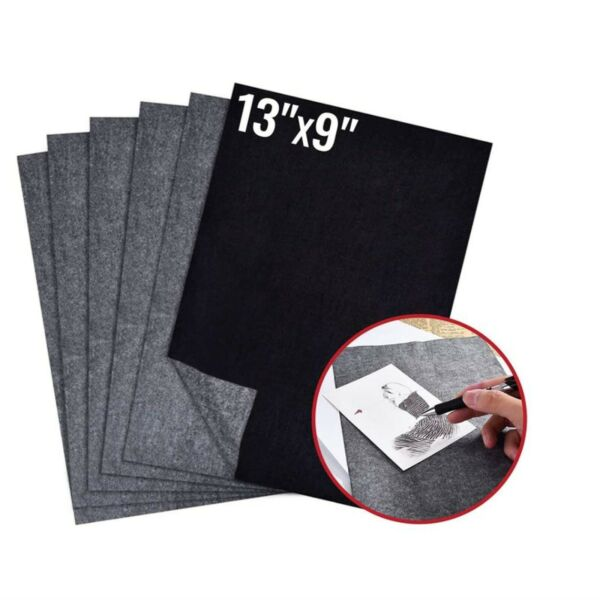 100 Pcs Carbon Paper Transfer Copy Sheets Graphite Tracing A4 for Wood Canvas $10.49
