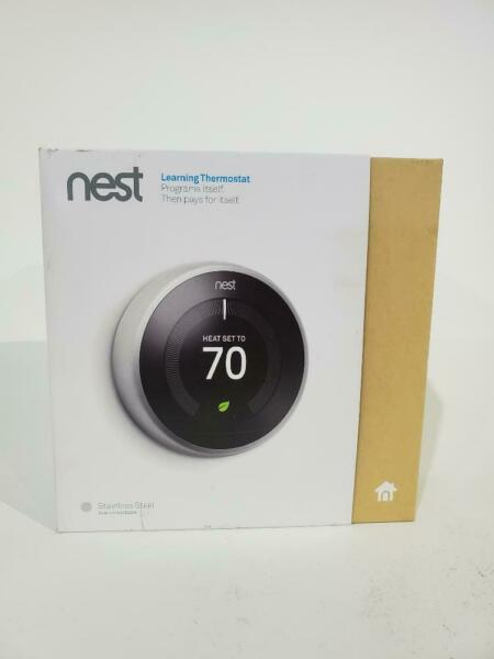 Nest T3007ES Learning Thermostat Easy Temperature Control for Every Room Used $74.17