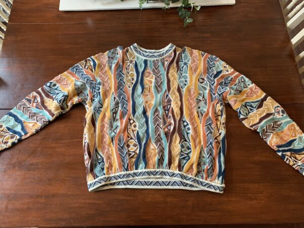 Authentic Vintage Coogi Sweater Australia Size XL Notorious BIG Multi Color $480.00