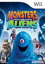 Monsters vs. Aliens Nintendo Wii **GAME DISC ONLY**