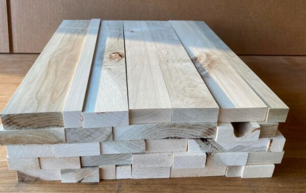 Full Box of Maple Scrap Boards Craft Wood $32.88