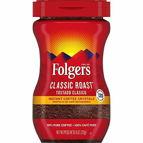 Folgers Instant Coffee Crystals Classic Roast