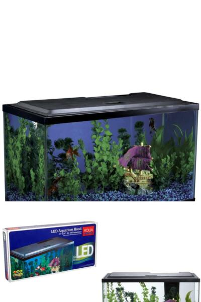 10 Gallon Aquarium Hood Fish Tank Top Lid With LED Light NEW FreeShippi $36.14