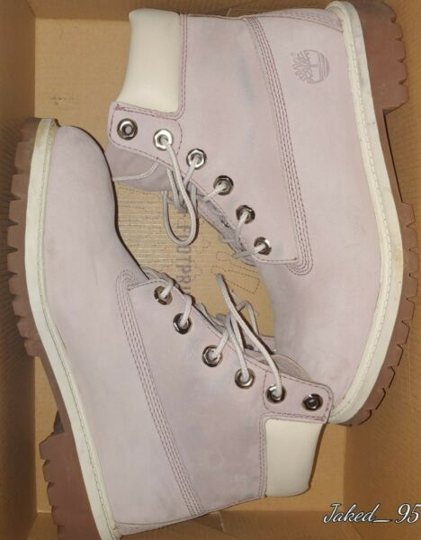 Timberland Pink and White Junior size 5 *read discription and see pictures $55.00