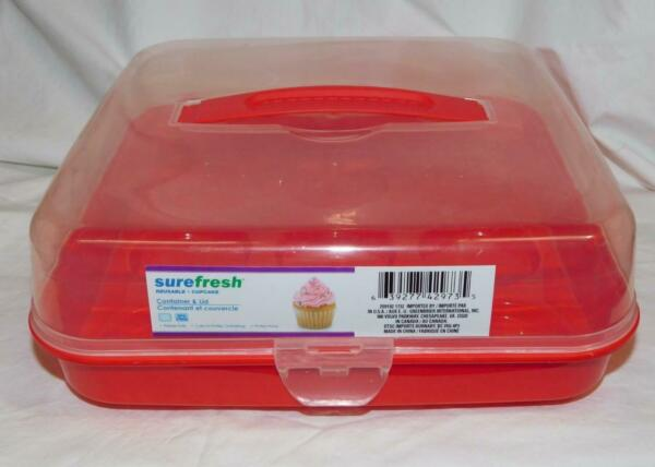 New Sure Fresh Plastic Cupcake Carrier with Handle