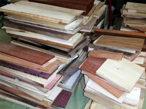 24quot; Long Box of Thin Unfinished Craft Wood. Many Species Scroll Saw Lumber $33.88