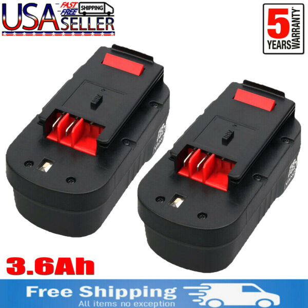 2PCS for Black amp; Decker HPB18 18V 18Volt 3.6Ah Ni MH Battery HPB18 OPE 244760 00