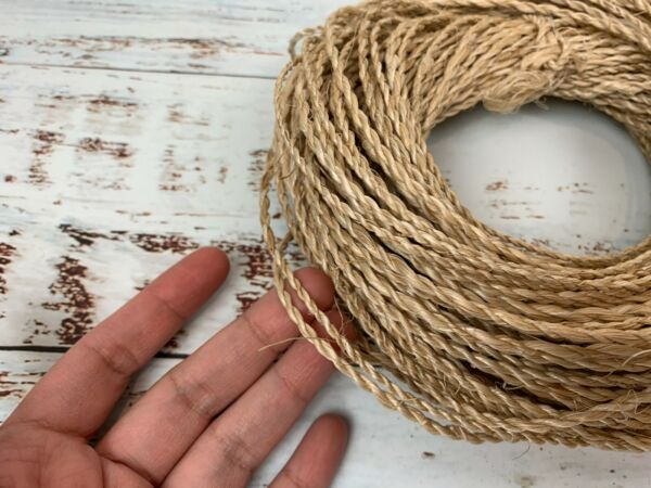 40 yards Abaca Twine Cord Burlap Rope Twist Hemp Natural Linen Craft String