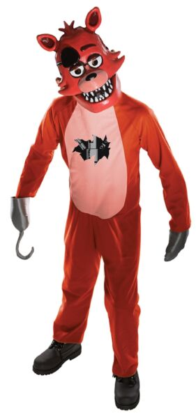 Foxy Child Costume Five Nights At Freddy#x27;s Jumpsuit Mitts and Mask FNAF Horror