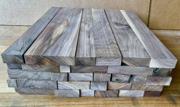 Full Box of 24quot; Long Black Walnut Scrap Boards Craft Wood. Cutting Board Stock
