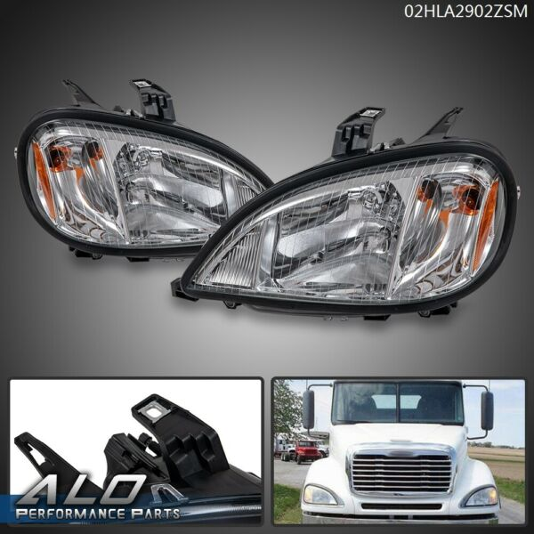 Pair Fit For 04 17 Freightliner Columbia Headlight Right Left Side Set w Bulbs