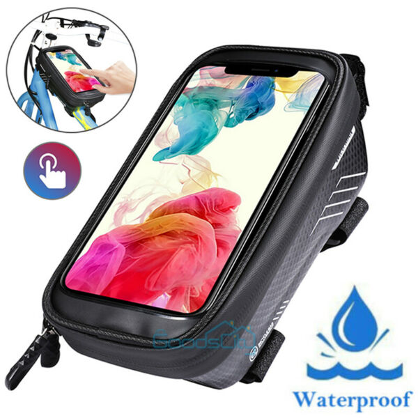 Front Frame Waterproof Bike Bag Cycling Bicycle Top Tube Pouch Phone Holder MTB $14.65