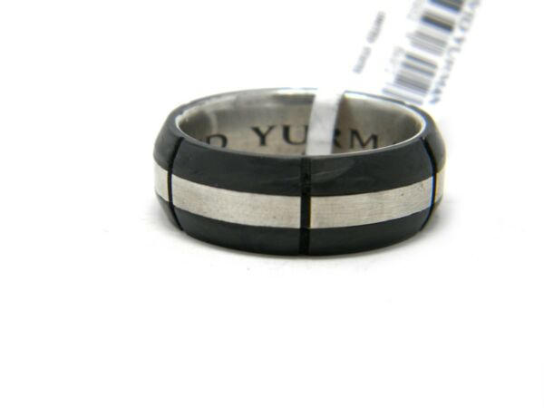 David Yurman 8.5mm Forged Carbon Band Ring Sterling Silver Size 12.5 NWT $450.00