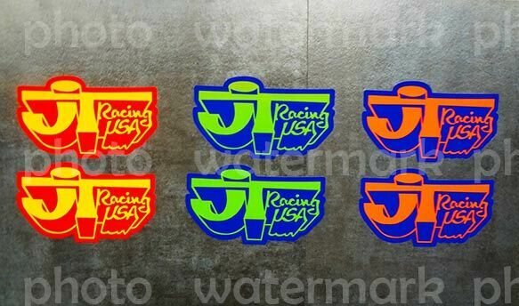 2x JT Racing Stickers Vinyl Decals Motocross MX CR YZ RM MotoGP Pick ur Size