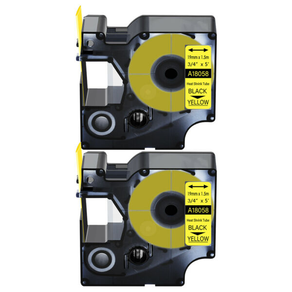 2 Heat Shrink Tube Label IND Tape 18058 For Dymo Rhino 3M PL200 PL300 PL150 3 4quot; $13.99