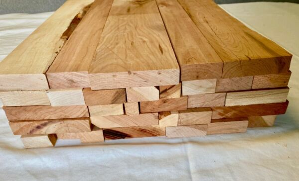 24quot; Long Box of Cherry Scrap Boards Craft Wood