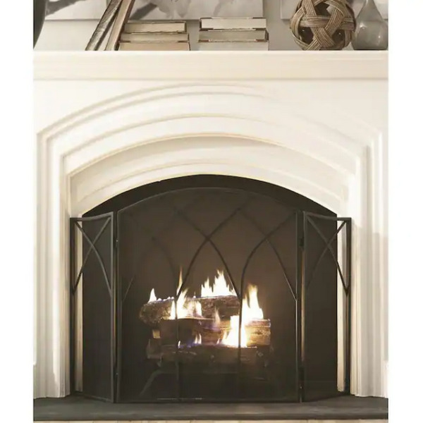 Pleasant Hearth Gothic Three Panel Fireplace Screen 46.5quot; L x 31quot; H