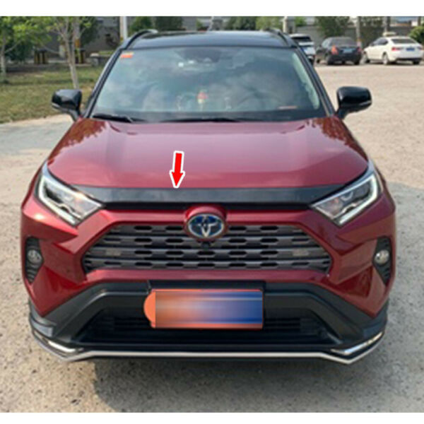 Black Carbon For Toyota RAV4 5th Add on Front Hood Lid Bonnet Cover Trim ABS $139.00