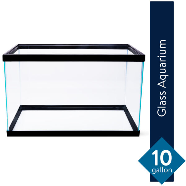 10 Gallon Aquarium Fish Tank Clear Glass Terrarium Fishes Pet Reptiles Aqua Home $24.95