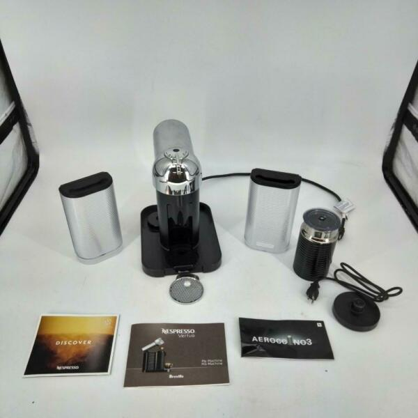 Breville Nespresso Vertuo and Aeroccino3 Frother Espresso Machine Chrome Finish