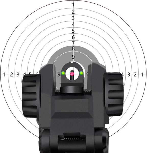 AWOTAC Polymer Black Fiber Optics Iron Sights Flip up Front and Rear Sights with $31.14