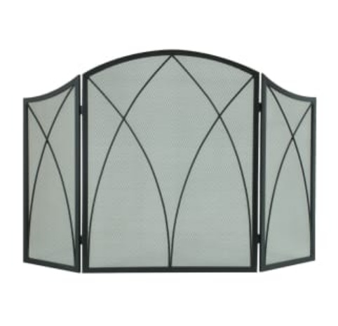Pleasant Hearth Arched 3 Panel Fireplace Screen