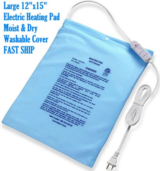 Large Electric Heating Pad Cramps Neck Back Pain Relief 12quot; x 15quot; US Stock $18.89