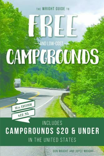 The Wright Guide to Free and Low Cost Campgrounds: Includes Campgrounds $20 and